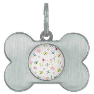 Sweet fly pet ID tag