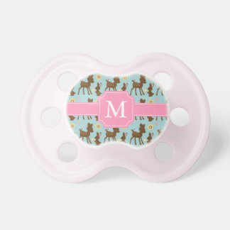 Sweet Forest Animals Monogrammed Pacifier