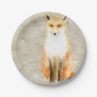 Sweet Fox Paper Plate