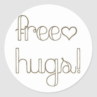Sweet Free Hugs Heart Card Seal Sticker