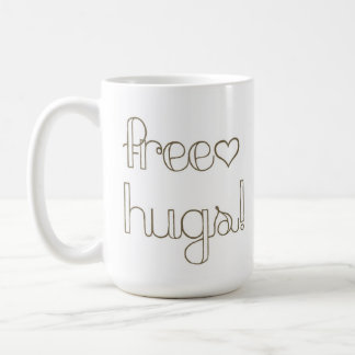 Sweet Free Hugs Heart Mug