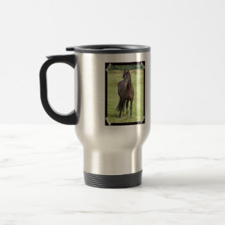 Sweet Friesian Horse Travel Mug