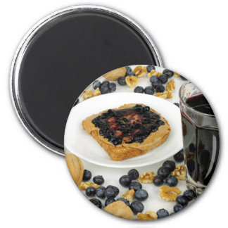 Sweet Fruit Nut Treats 2 Inch Round Magnet
