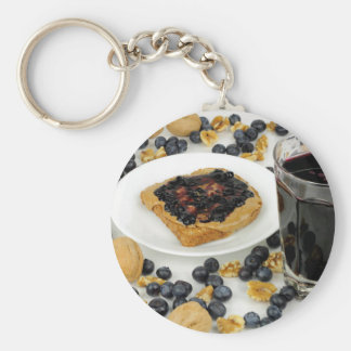 Sweet Fruit Nut Treats Basic Round Button Keychain