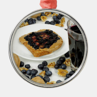 Sweet Fruit Nut Treats Metal Ornament
