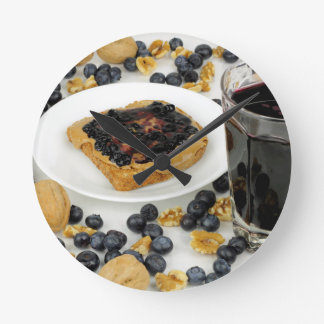Sweet Fruit Nut Treats Round Clock