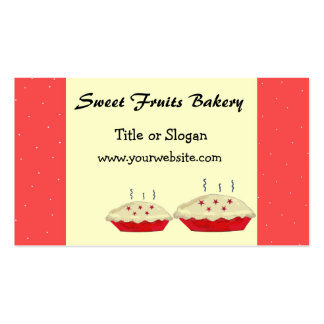 Sweet Fruits Bakery Design Double-Sided Standard Business Cards (Pack Of 100)