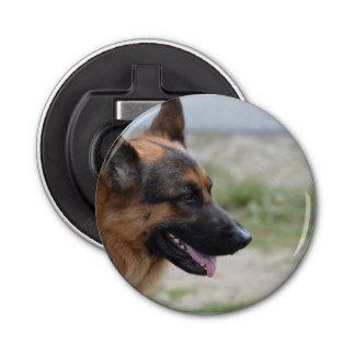Sweet German Shepherd Dog Button Bottle Opener