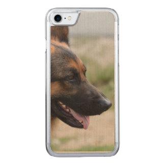 Sweet German Shepherd Dog Carved iPhone 8/7 Case