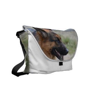 Sweet German Shepherd Dog Messenger Bag