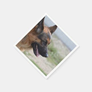 Sweet German Shepherd Dog Paper Napkin