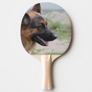 Sweet German Shepherd Dog Ping Pong Paddle
