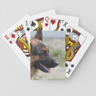 Sweet German Shepherd Dog Poker Deck