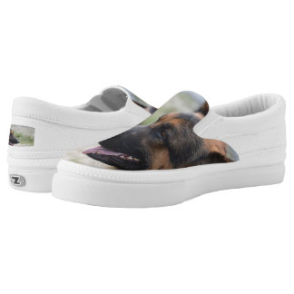 Sweet German Shepherd Dog Slip-On Sneakers
