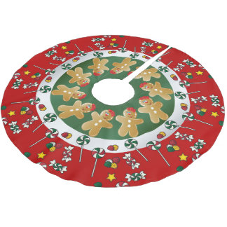 Sweet Gingerbread Christmas Brushed Polyester Tree Skirt