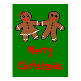 Sweet Gingerbread Couple Postcard