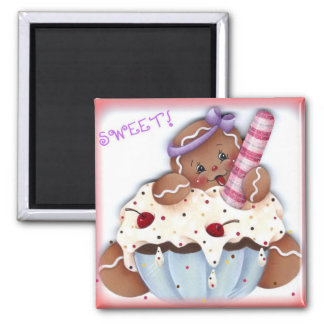Sweet Gingerbread Dessert Magnet