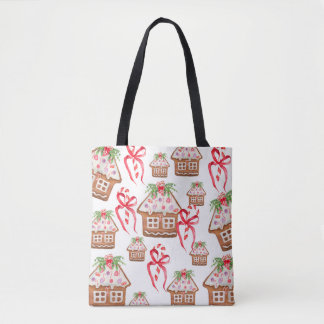 Sweet Gingerbread House Cookie Tote Bag