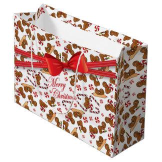 Sweet Gingerbread Men Bakers Large Gift Bag