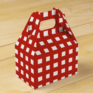 Sweet Gingham Party Favor Boxes