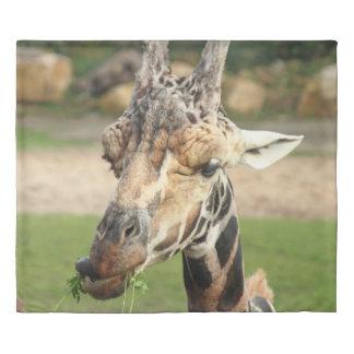 sweet giraffe. duvet cover