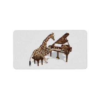 Sweet Giraffe Loves To Play Piano