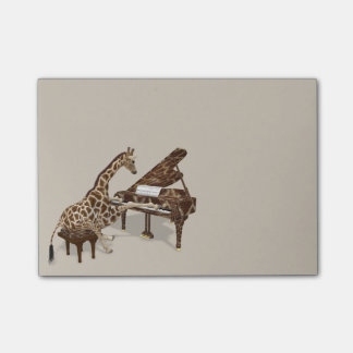 Sweet Giraffe Loves To Play Piano Post-it Notes