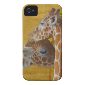 Sweet Giraffes - Painting iPhone 4 Case-Mate Case