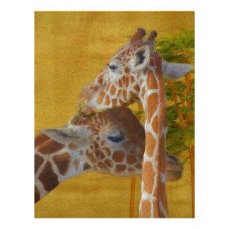 Sweet Giraffes - Painting Letterhead