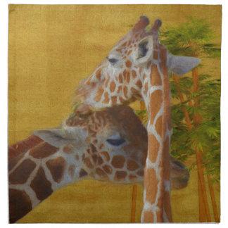 Sweet Giraffes - Painting Napkin