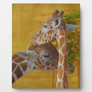Sweet Giraffes - Painting Plaque