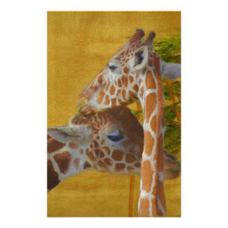 Sweet Giraffes - Painting Stationery