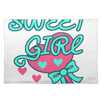 sweet girl design placemat