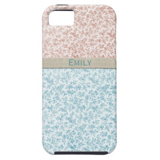 Sweet Girl Pink Blue Vintage Calico Personalized iPhone 5 Case