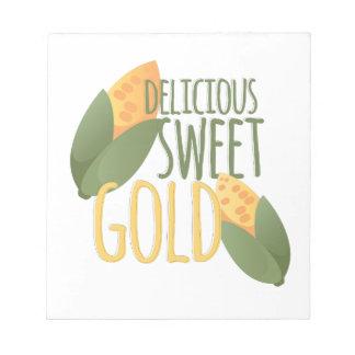 Sweet Gold Notepads