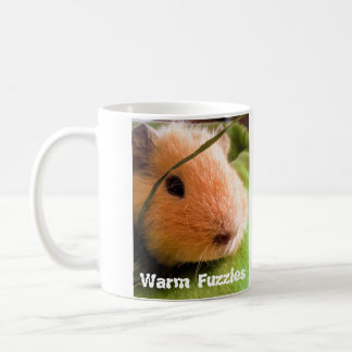 Sweet golden guinea pig gives you warm fuzzies coffee mug