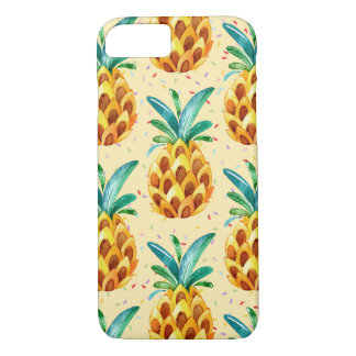 Sweet Golden Pineapple Surprise iPhone 7 Case