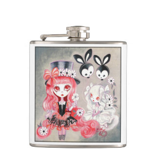 Sweet Gothic Party Hip Flasks