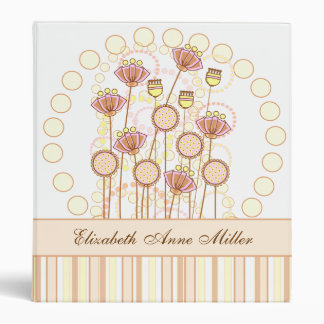 Sweet Groovy Blooms Photo Album Binder