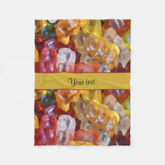 Sweet Gummi Bears Fleece Blanket