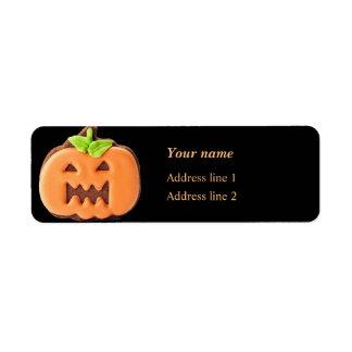 Sweet Halloween orange pumpkin Return Address Label