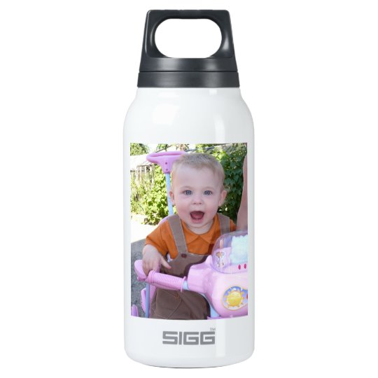 Sweet happy baby Custom Photo Template Insulated Water Bottle