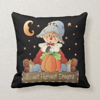 Sweet Harvest Dreams fall throw pillow