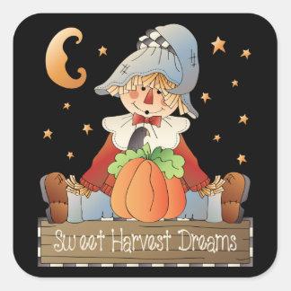 Sweet Harvest Dreams scarecrow sticker