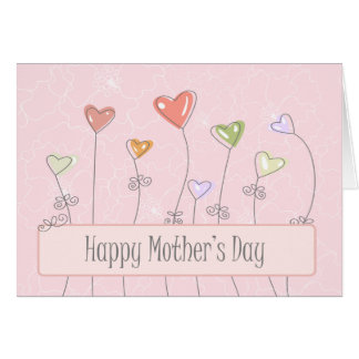 Sweet heart balloons happy mothers day card