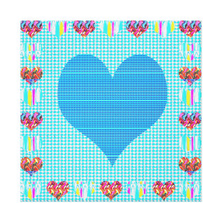 Sweet Heart Blue Sweet+Heart Abstract Art Gifts Canvas Print
