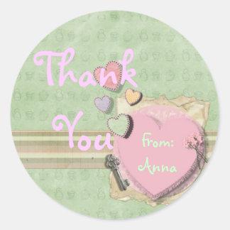 Sweet heart Girl Baby Shower Invitation Stationery Round Sticker