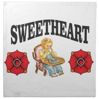 sweet heart girl napkin