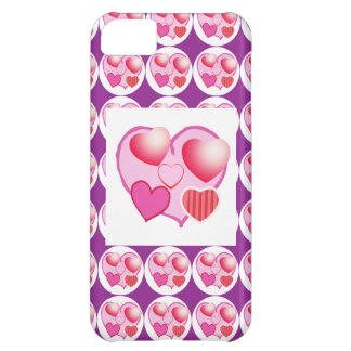 Sweet Heart Patterns : Pink Theme iPhone 5C Cases