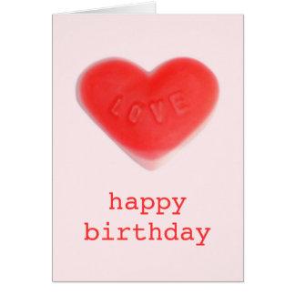 Sweet Heart Pink 'happy birthday' card portrait